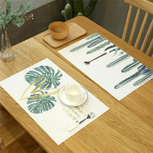 Home Geometry Placemat Linen Dining Insulation Kitchen Mat Clover Cotton Table Waterproof Oilproof Tea Table цена 2017