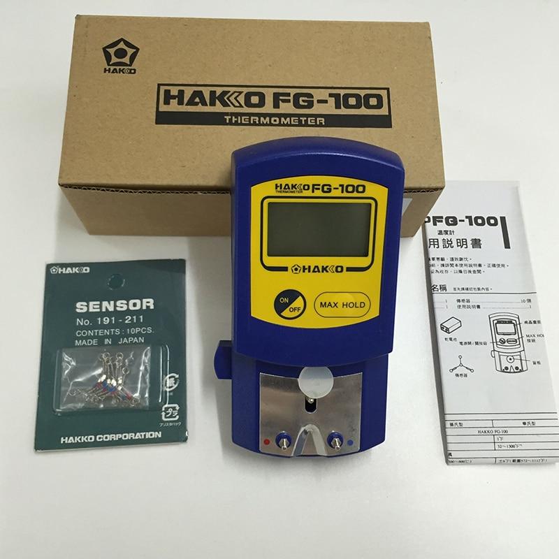 купить New Hakko FG-100 Soldering Iron Tip Thermometer With 10pcs Sensor Free Shipping недорого
