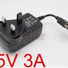 Высокое качество 50 шт USB зарядное устройство 3A usb адаптер питания Великобритания вилка 5 V 3A дорожное настенное зарядное устройство
