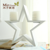 The New Modern Minimalist Decoration Wooden Star Candle Bridal Chamber Wedding Decoration Candle Wedding Free Shipping