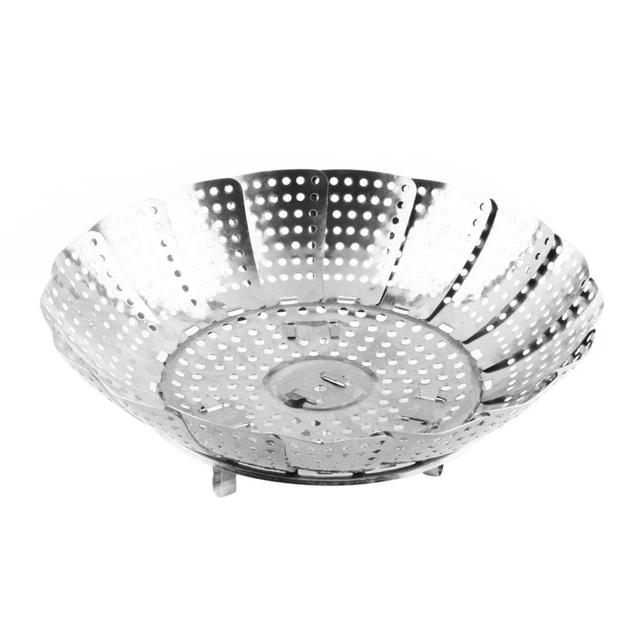 Folding Stainless Steel Steaming Basket