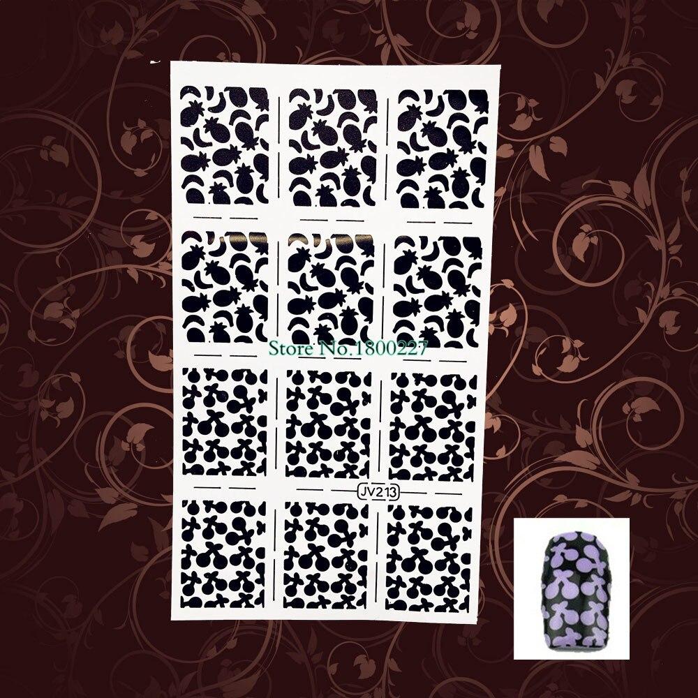 1 STÜCK Kristall Edelstein Design Nail art Schablone Template ...