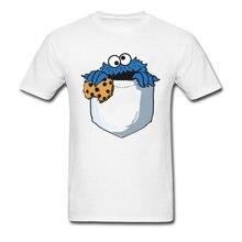73ff0732e Crumbs In My Pocket Tshirt Cookie Monster T Shirt Men Funny Tops Tees  Cartoon T-shirt Summer Cotton Clothing Designer