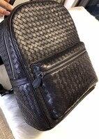 Рюкзак 2018 мужской и женский универсальный высокое качество Овчина кожаная сумка на молнии простая Щедрая сумка для альпинизма