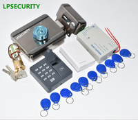 LPSECURITY Fingerprint RFID Electric Control gate door castle Lock kit For 12V DC Video Intercom Door Phone System