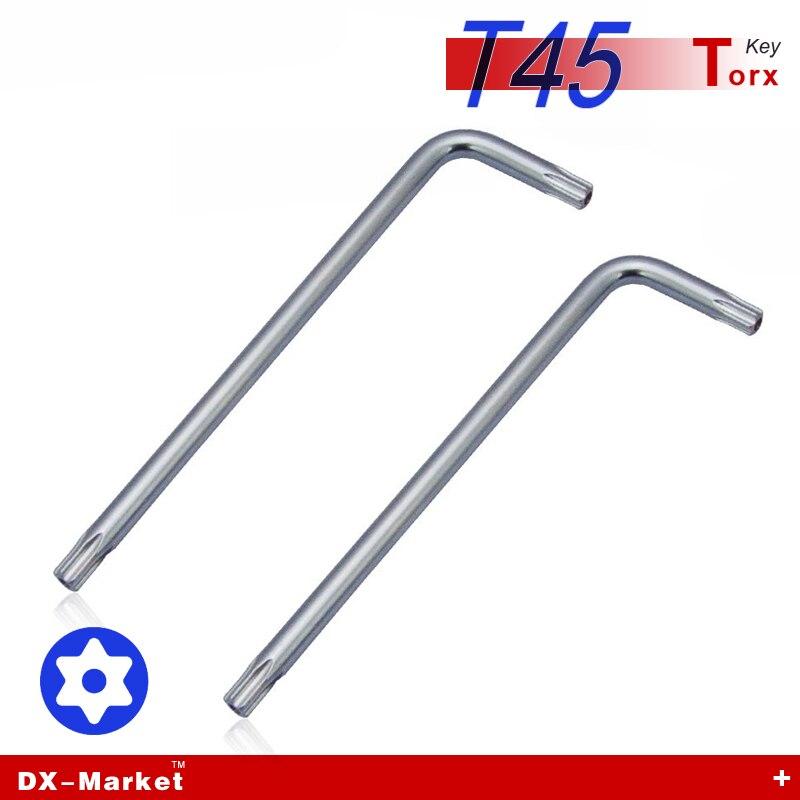 T45 torx, 5 шт., длинные руки Torx ключ для anti theft болт, titanium покрытие легированной стали DIY инструменты, высокой твердости Инструмента Ключ