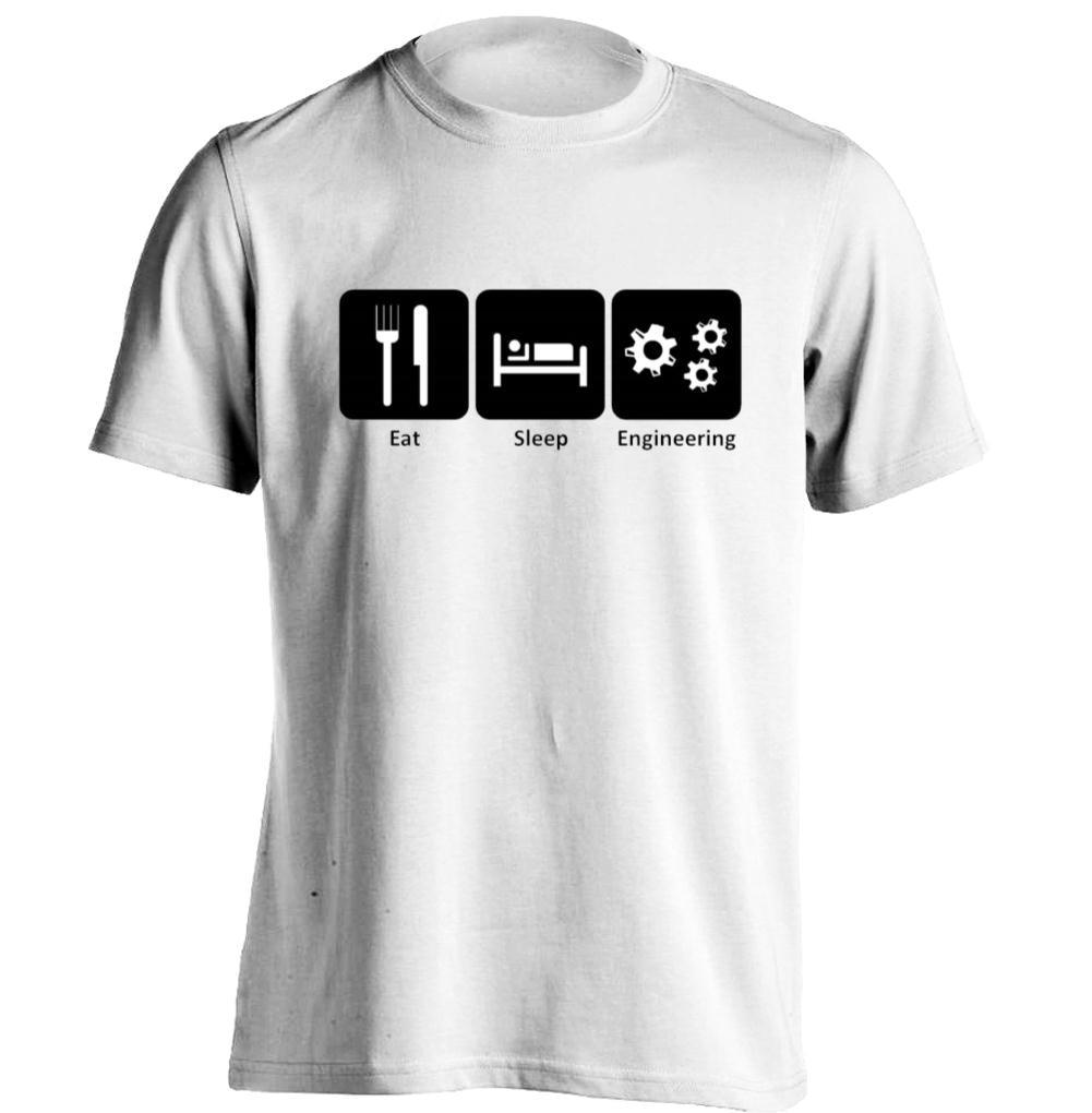 Shirt design womens - Aliexpress Com Buy Eat Sleep Engineer Mens Womens Band T Shirts Rock T Shirt Design T Shirt From Reliable Rock T Shirt Suppliers On Yeenoke
