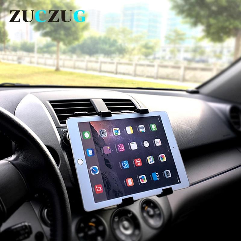 Universal 7 8 9 10 pulgadas coche tableta PC soporte para coche soporte para iPad 2/3/4 5 6 Air 1 2 Tablet Car Holder para ipad mini