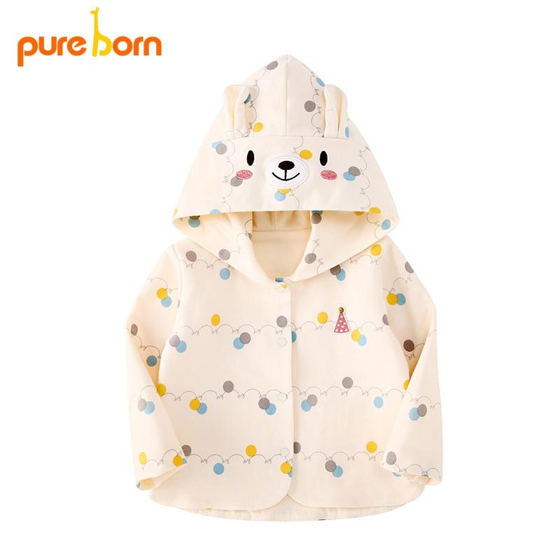 b795e92f2 Pureborn Baby Coat for Girls Boys Cotton Cat Hoooded Long Sleeve ...