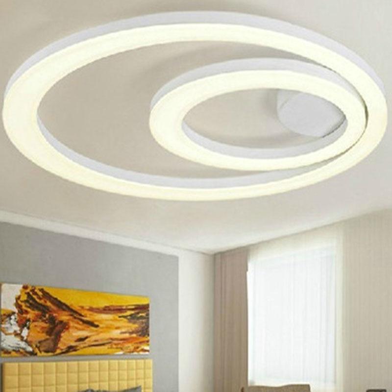 White Acrylic Led Ceiling Light Fixture Flush Mount Lamp