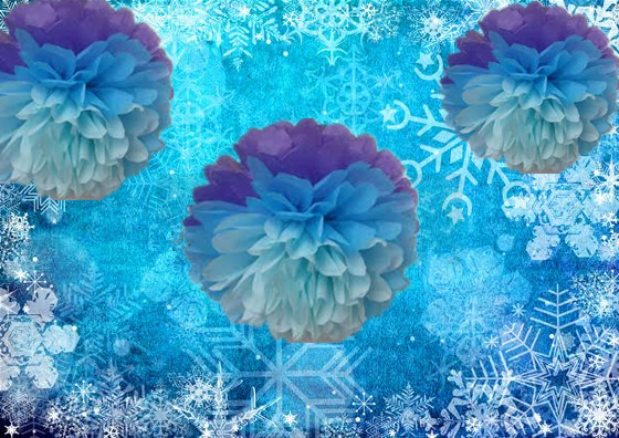 Tissue Paper Poms Frozen Theme Birthday Party Dec Wedding decor