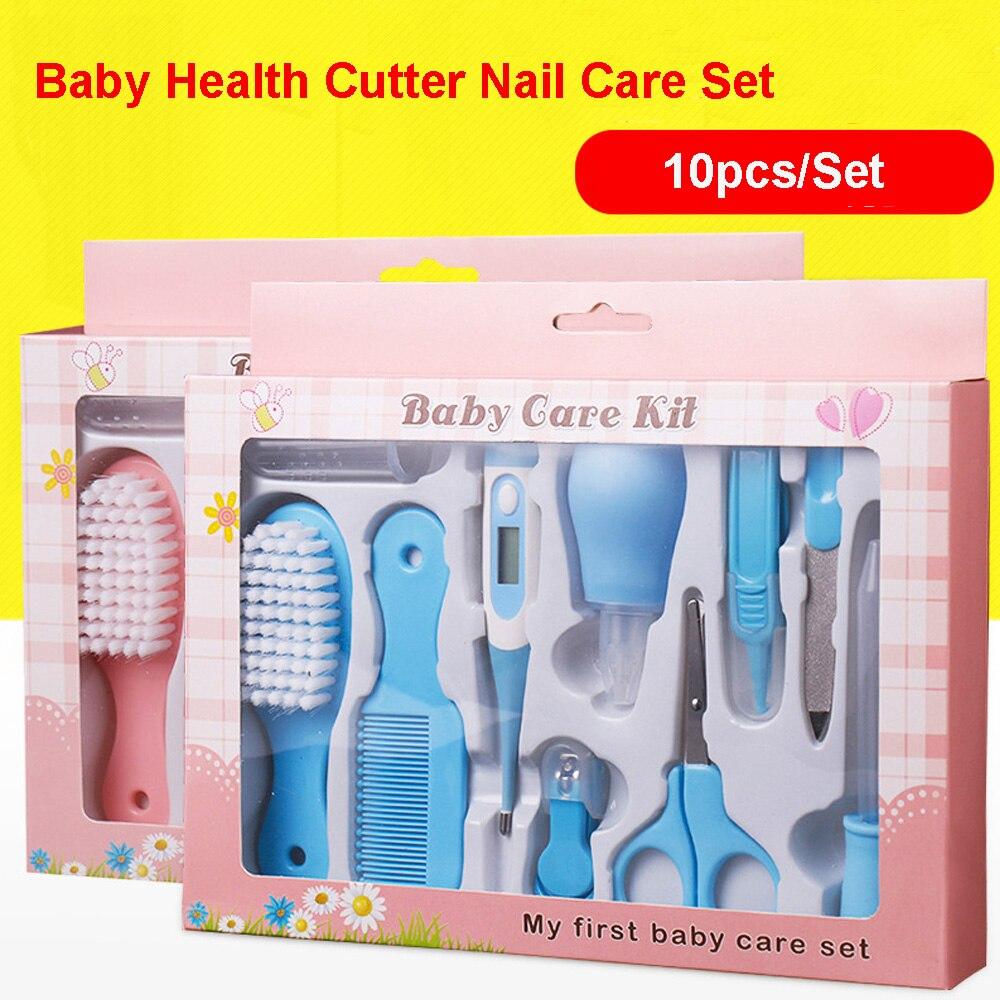 10 Teile/satz Baby Gesundheit Pflege Set Tragbare Neugeborenen Baby Werkzeug Kits Spielzeug Kinder Pflege Kit Sicherheit Cutter Nagel Pflege Set Für Kinder Elegantes Und Robustes Paket