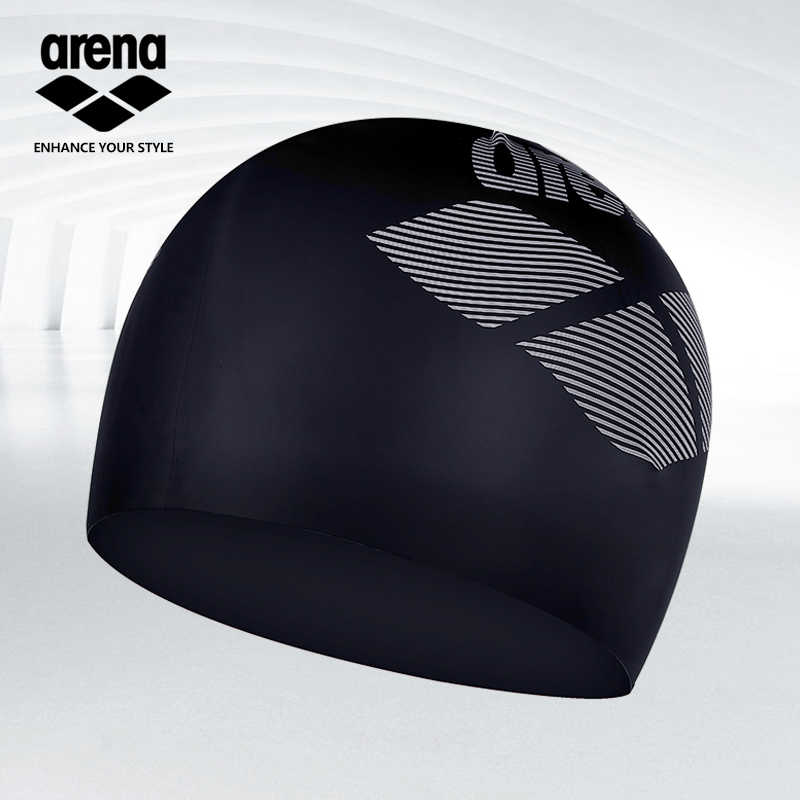 Arena 100% Pure Silicone Waterproof Swimming Cap Swim for Unisex Swimming   Caps For Long Hair ARN-6400E