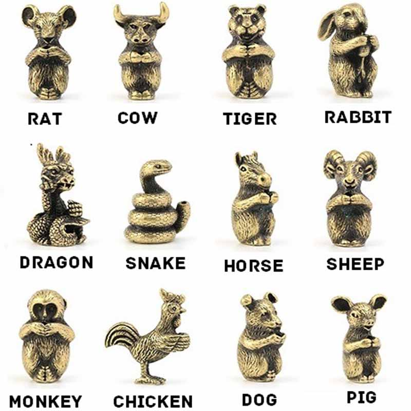 Details about  /Mini Monkey Statue Holder China Zodiac Animal Sculpture Brass Decor Home Office
