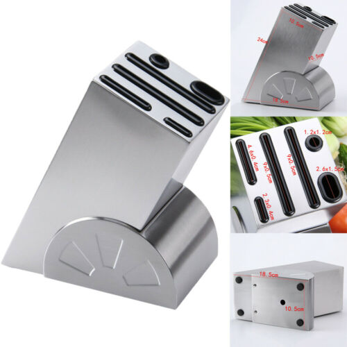 Kitchen Stainless Steel Knife Stand Kitche Organizer Universal Organizer Holder Stand Tool Rack Stainless Steel Knife Block Set