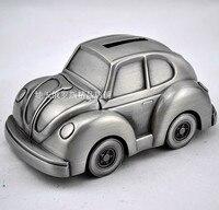 Starożytny posąg dekoracji sklepów fabrycznych Srebrny cyny cyny produktów piggy Beetle Modelu Samochodu retro exquisite tekstury kreatywne prezenty