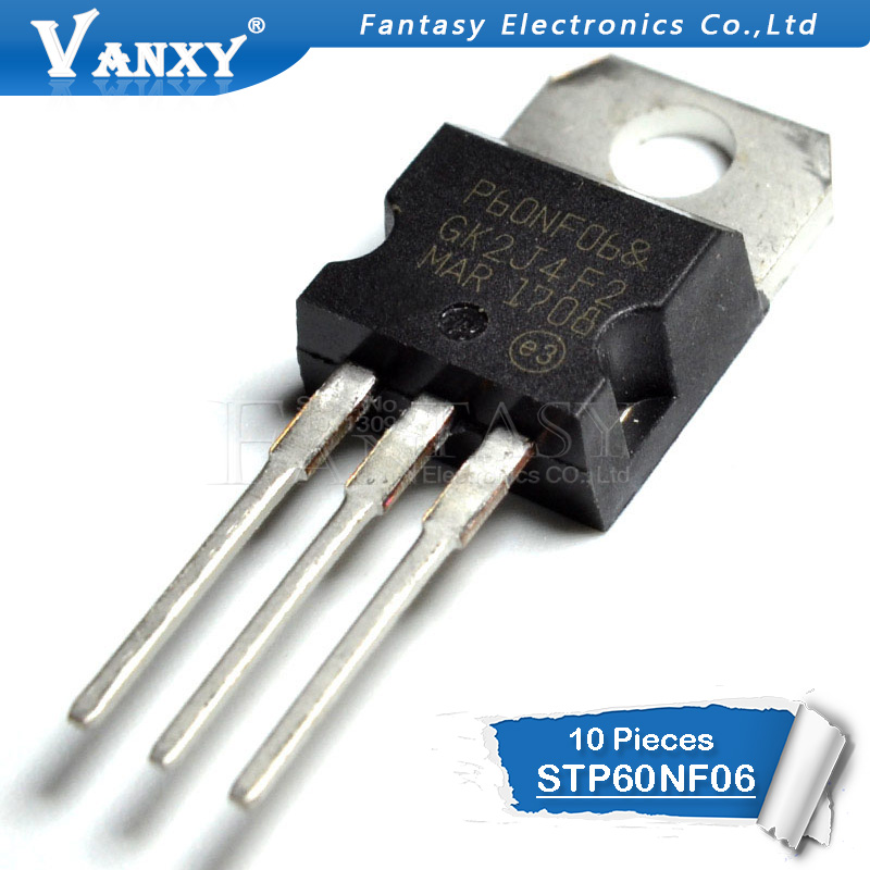 10PCS STP60NF06 TO220 <font><b>P60NF06</b></font> TO-220 STP60NF06L 60NF06 new and original IC image