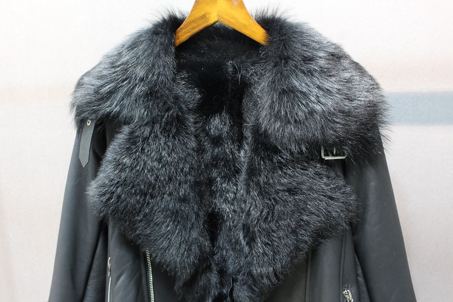 women natural leather and fur winter jacket warm (26)