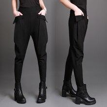 שחור מזדמנים מכנסיים כיסי