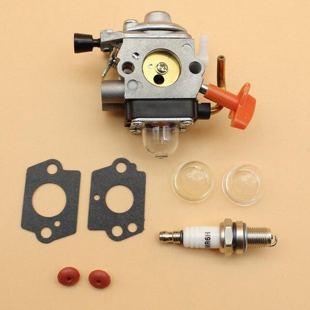US $18 22 |Carburetor Check Valve Primer Bulbs Spark Plug Set Fit STIHL FS  100 110 87 90 HL 100 HT 100 101 KM 100 90 SP 90 4 Stroke Trimmer-in Grass