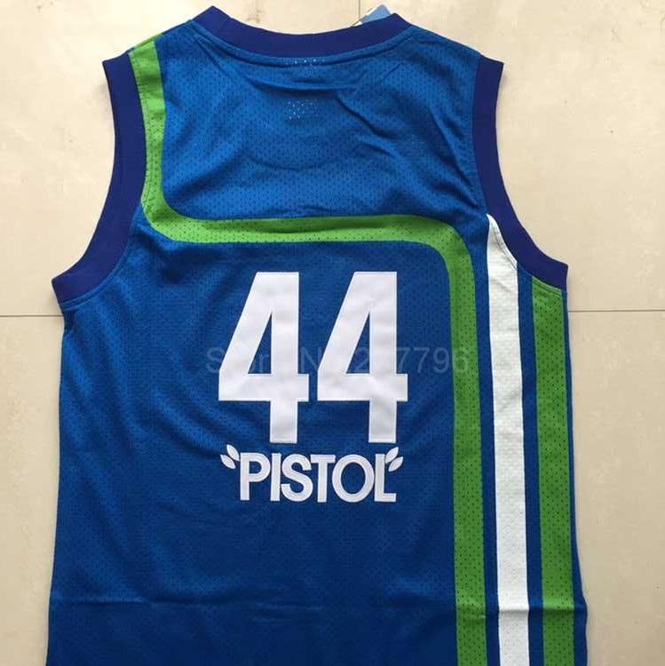 ... promo code for atlanta pistol pete maravich jersey best stitch 44 utah  7 maravich throwback cheap 91c679aa1