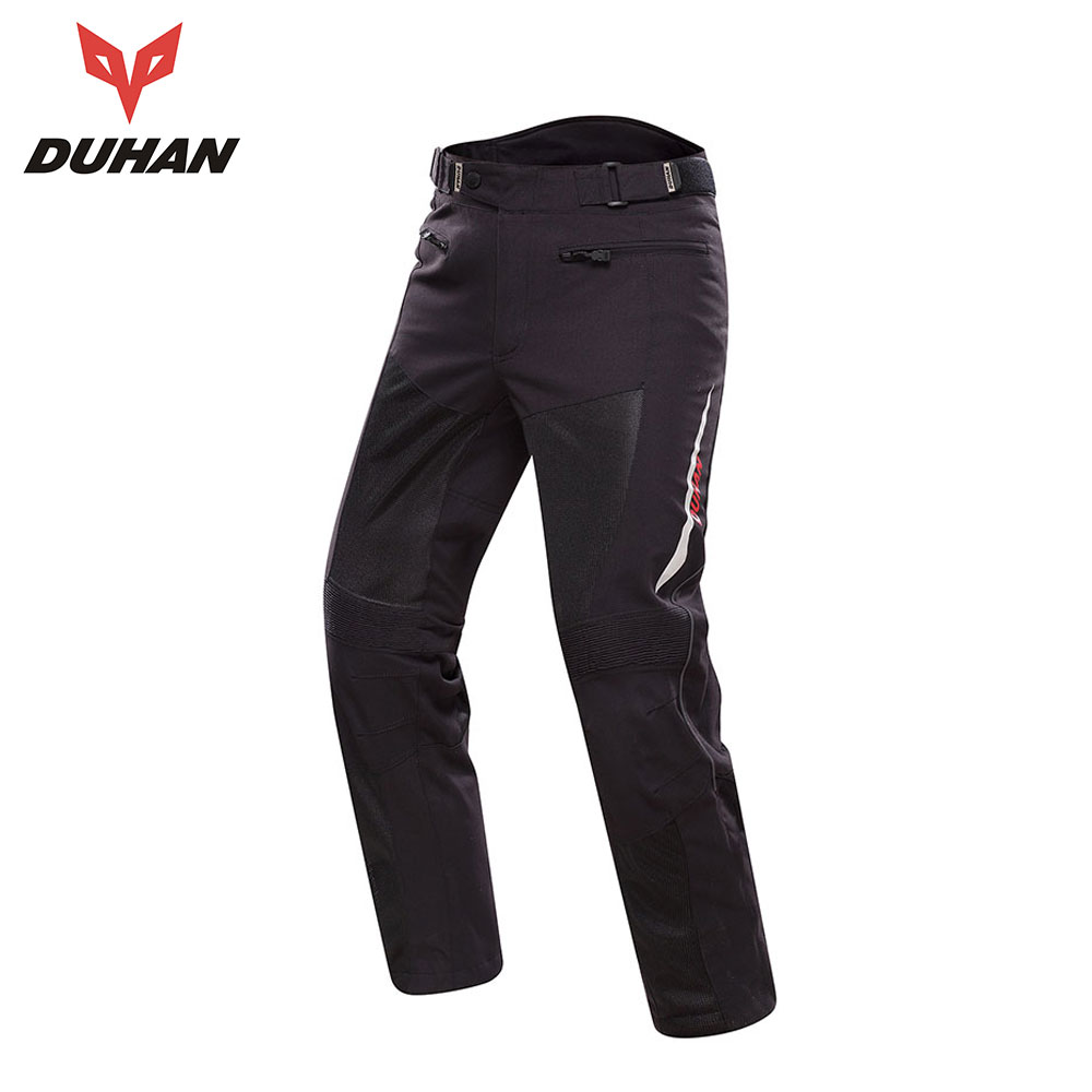 DUHAN Motorcycle Pants Men Moto Trousers Racing Off-road  Summer Mesh Pants Protective Gear With Pads Men's Pantalon Motocross 2015 new duhan dk 018 moto pants motorcycle jeans off road motorcycle riding pant drop resistance external protective gear