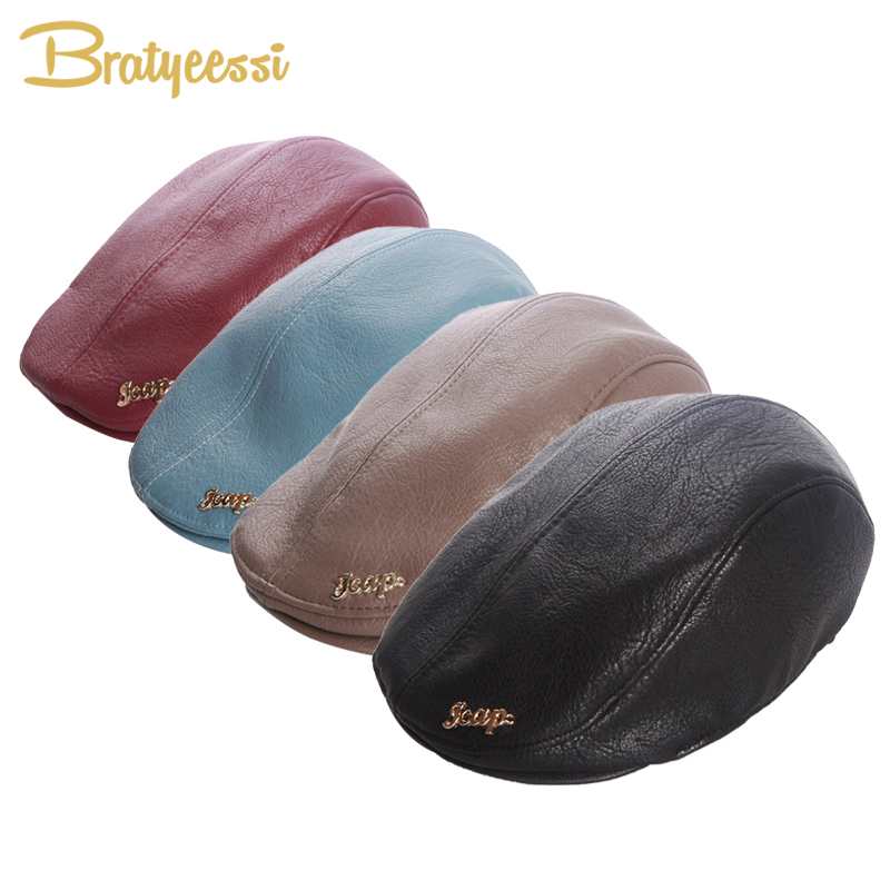 105126c04459f Fashion Baby Hat for Boys Leather Baby Boy Hat Vintage Cap Kids Beret Hat  Elastic Infant Baby Accessories for 2 5 Years 1 PC-in Hats   Caps from  Mother ...