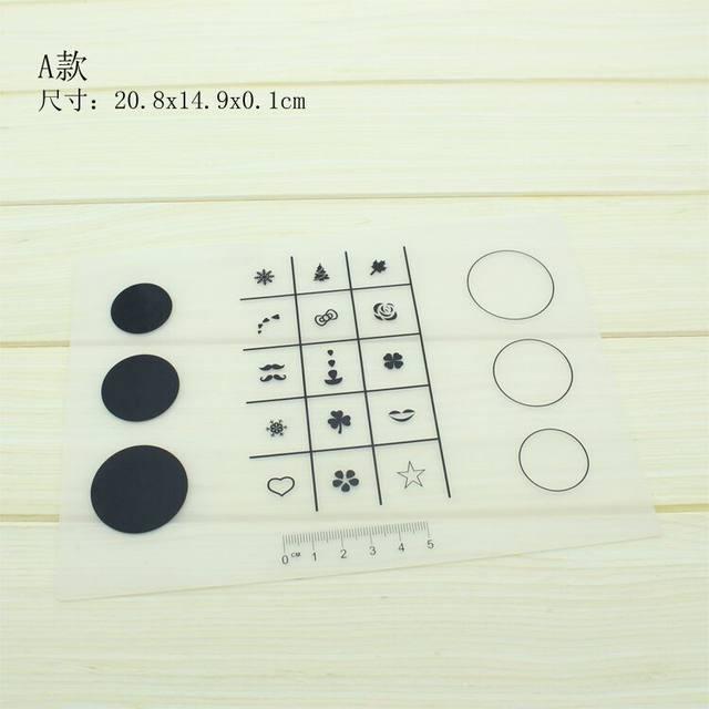 Online Shop Nail Art Practice Silicone Mat Pad Polish Stamping ...