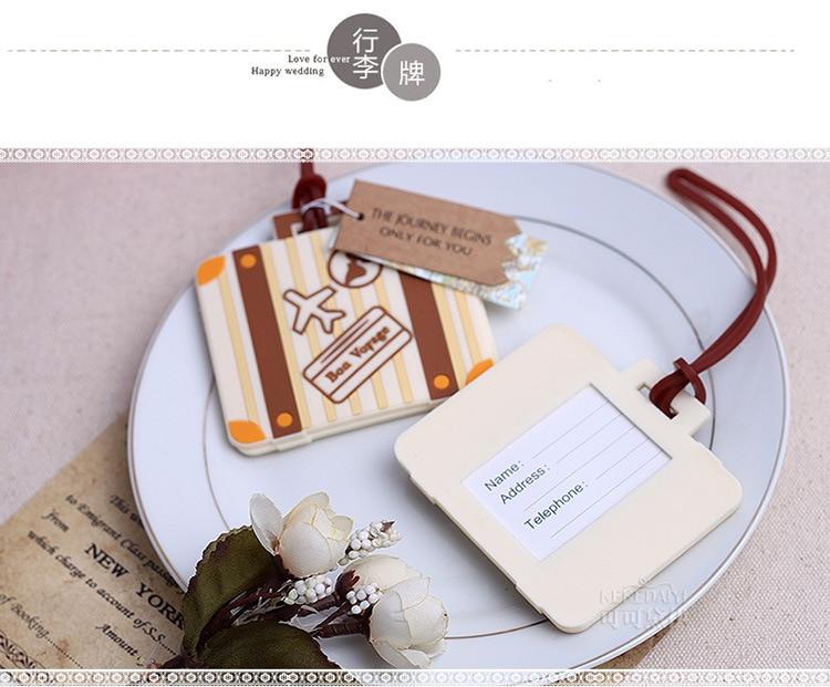 DHL free shipping 100PCS/LOT Bon Voyage airplane Luggage Tag wedding ...