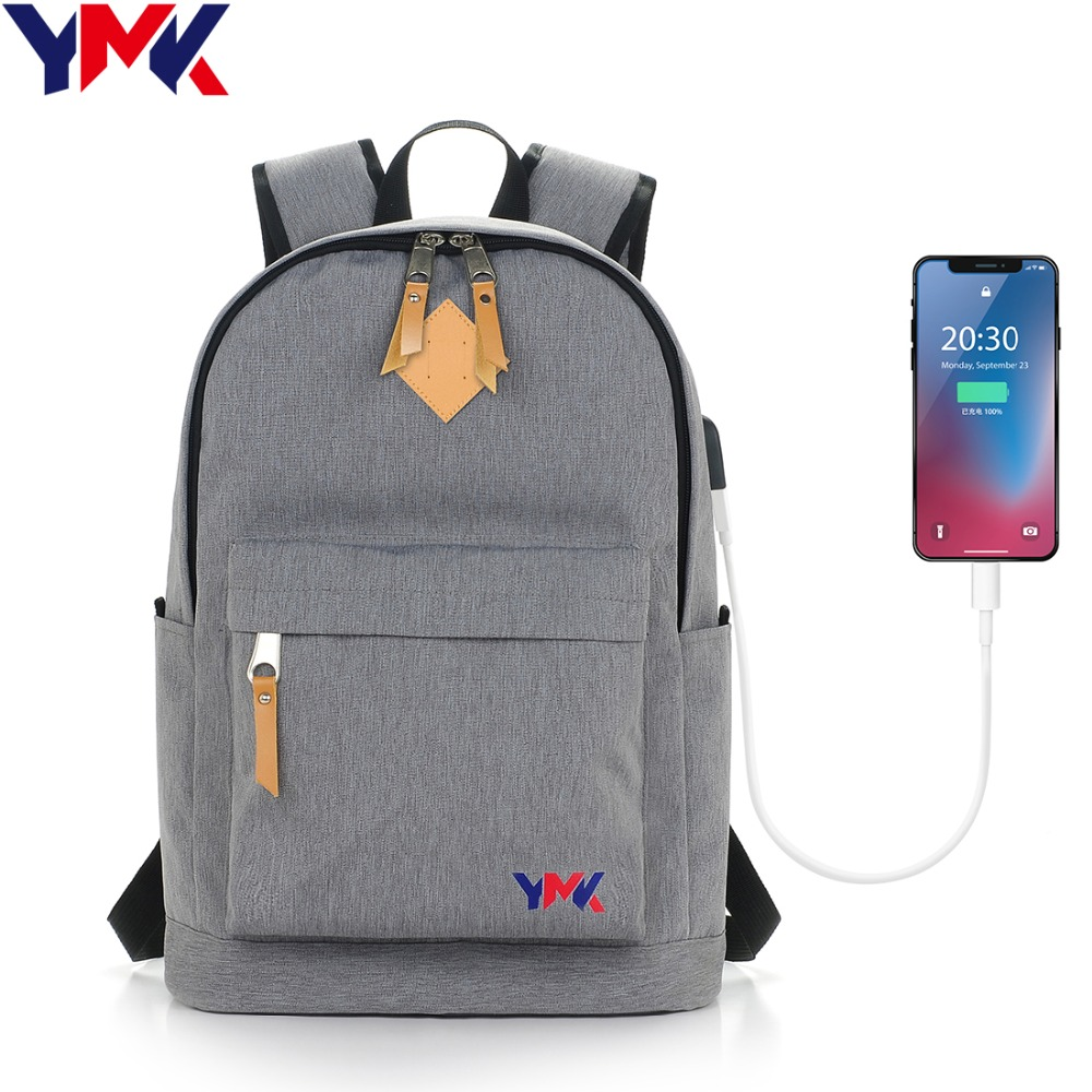 Ymk 15inch laptop backpack Women School bags for teenage girls unisex rucksack Classical Canvas Backpack Men Travel Mochila vintage cute owl backpack women cartoon school bags for teenage girls canvas women backpack brands design travel bag mochila sac