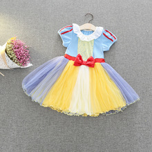 New Summer Baby Girl Dress Halloween costumes Short Sleeve Kids Clothes For Girls Dress Children Costume H889