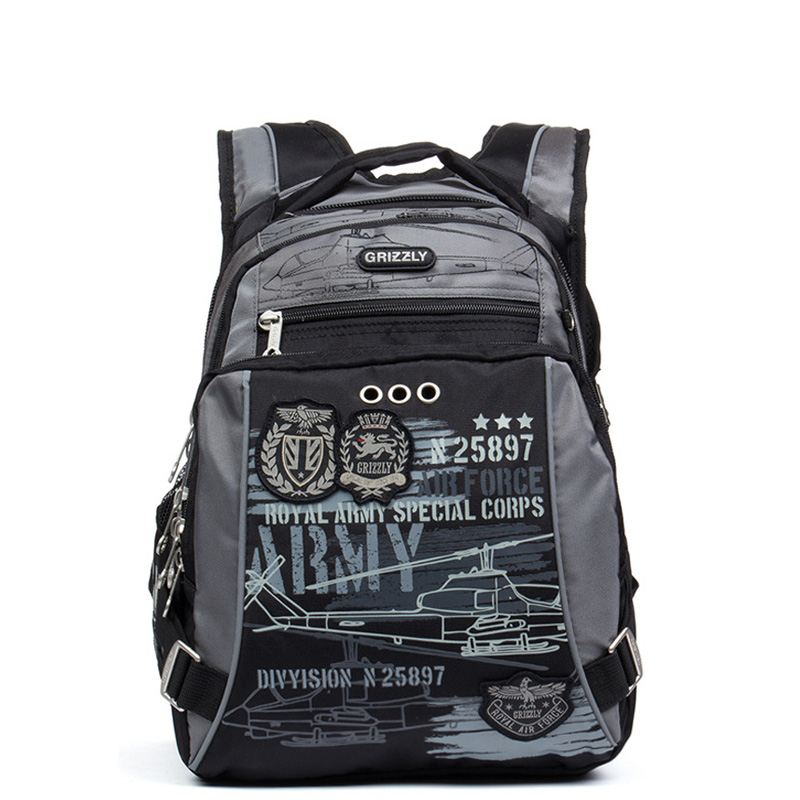 Grizzly New Arrival Kids Cartoon Backpack Orthopedic Waterproof Book Bag Reduce Spinal Heavy For Grade 1 5 School In Bags From