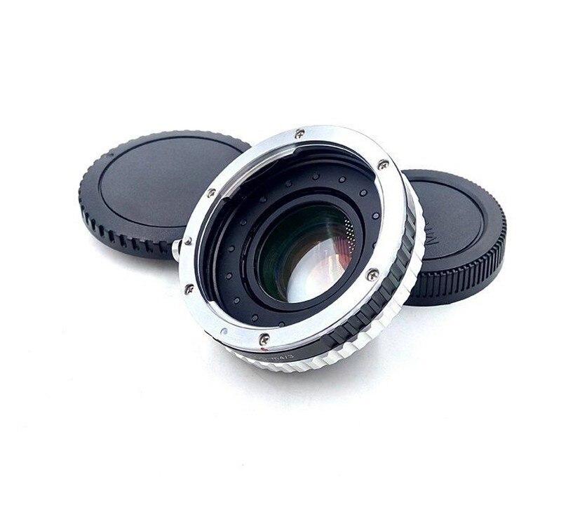 Focal Réducteur Vitesse Booster Adaptateur w/Ouverture pour Canon EF Objectif à M4/3 mont caméra GF5 GF6 GX7 GH4 E-PL6 E-PL5 BMPCC