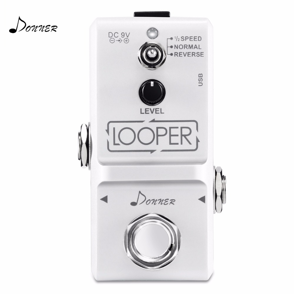 Donner Guitar Effect Pedal Tiny Looper 10 minutes of Looping 3 Modes