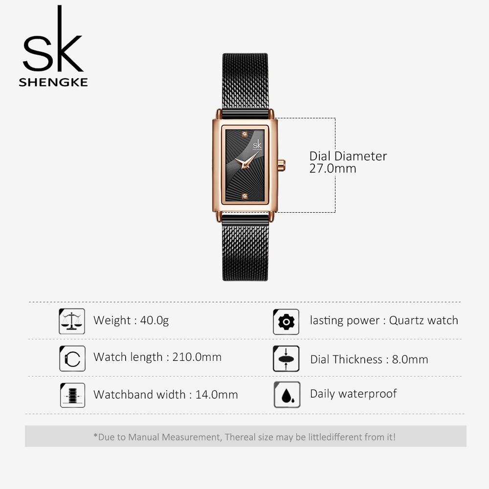Shengke Women Watches Fashion Geneva Designer Ladies Watch Luxury Brand Rectangle Quartz Gold Wrist Watch Luxury Gifts For Women 5