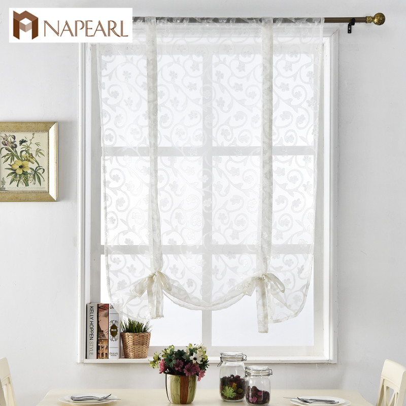 Napearl Kitchen Curtains Short Roman Curtains Butterfly