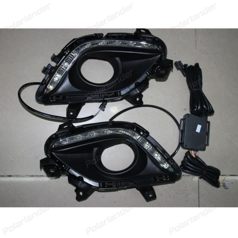 2 PCS headlght auto parts Car styling daytime running lights for M/azda 6 D/RL 2014-2015 сковорода d 20 см regent denaro 93 al de 1 20
