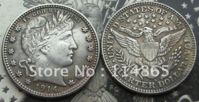 1914-S BARBER QUARTER COIN COPY commemorative coins-replica coins medal coins collectibles
