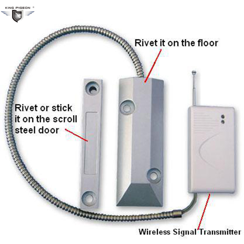 Wireless Garage Door Magnetic Contact  Wireless Garage Door Remote Control King Pigeon SDM-100 supra sdm 3130