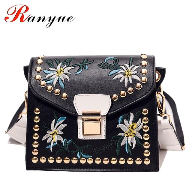 Aliexpress.com : Buy Fashion Women Leather Messenger Bag Flower ...