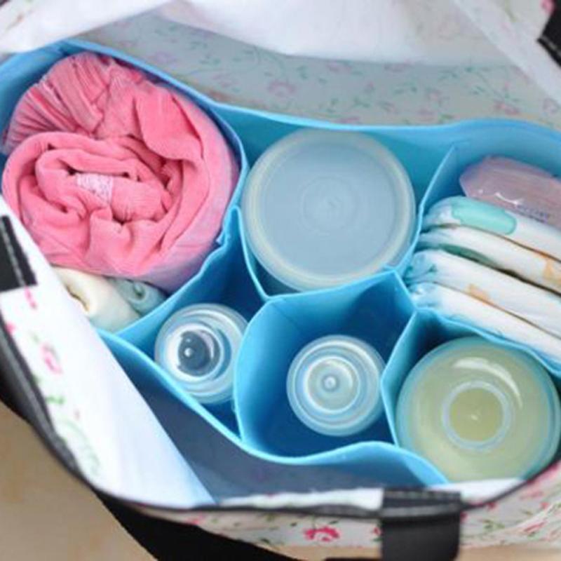 Многофункциональный 6 ячеек делитель Портативный подгузник открытый Организатор питания вставить мамы хранения сумки разные цвета