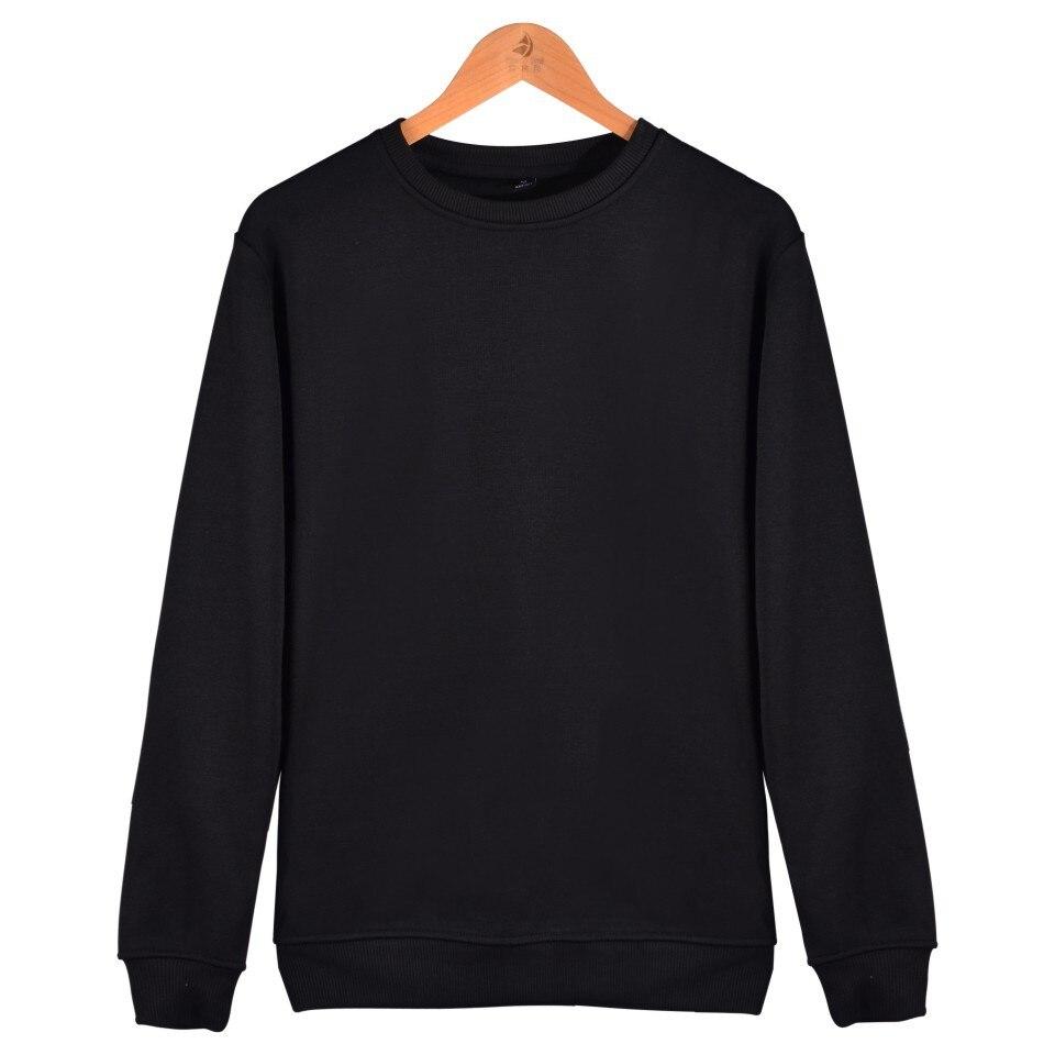 MRMT 2019 Brand Winter Men's Sweatshirts Pure Solid Color Round Neck Large Code Sweatshirt