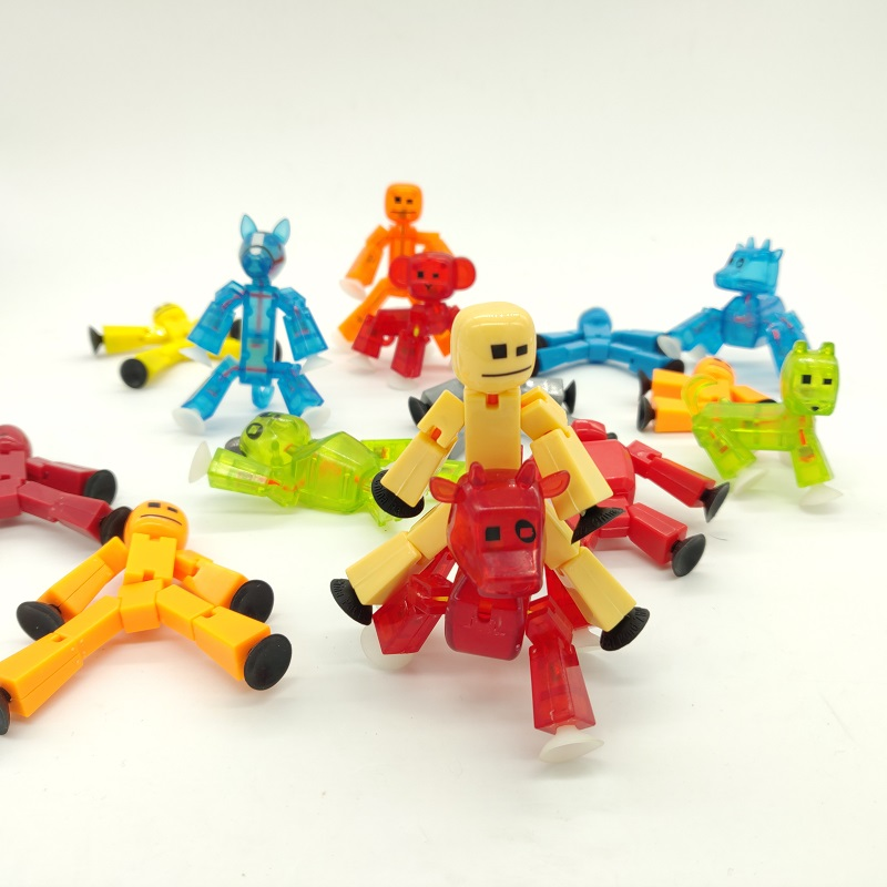 1piece Random Color Diy Creat Animation Film Stikbot Toys