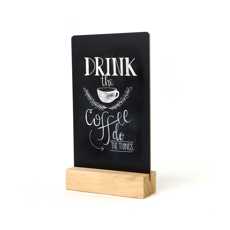 Mini Blackboard Message Stand Menu Stand Price Display Rack Countertop Sign Board Billboard Signage Plate Table Top Desk Sign