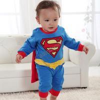 Spring Baby Boy Children Kids Romper Superman Long Sleeve Infant Cartoon Halloween Christmas Costume Gift SV000172