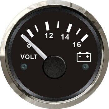 100% ブランド新電圧計電圧計 12 ヨット自動車モーターホーム用トラック黒色