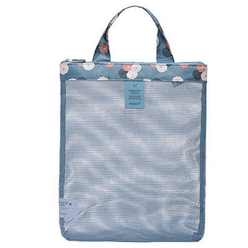 1 Pc Strand Sport Net Taschen Waschen Baden Faltbare Handheld Mittagessen Picknick Mesh Strand Tote Tasche Buch Essen Trinken Hause Lagerung