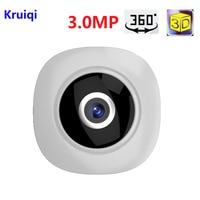 Kruiqi 360 Degree Wi fi IP Camera FishEye HD 3.0MP Smart Panoramic IPC P2P Wireless IP Fisheye Camera 3MP Security Wifi Camera