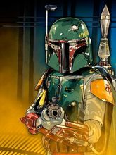Boba Fett Star Wars Sci-Fi Movie art silk Poster