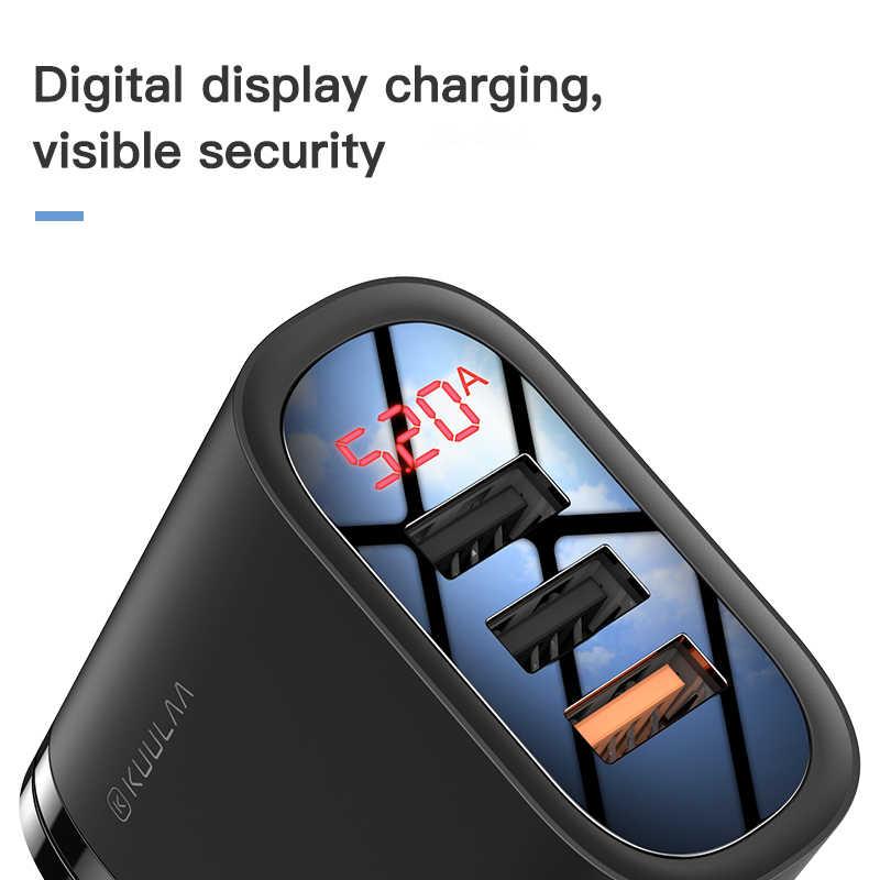 Kuulaa Pengisian Cepat 3.0 Usb Charger 30W QC3.0 QC Cepat Pengisian Steker Charger Ponsel untuk Iphone Samsung xiaomi Huawei